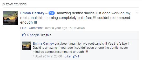 dental testimonial